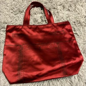 YSL red tote bag